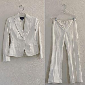 Vintage White Pantsuit - Power Suit Vibes!
